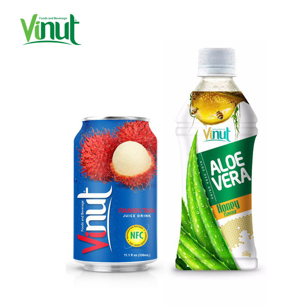 350ml VINUT Bottled High quality healthy fruit drink aloe vera in pineapple juice Thai fruit vegan drink Thailand soft drink