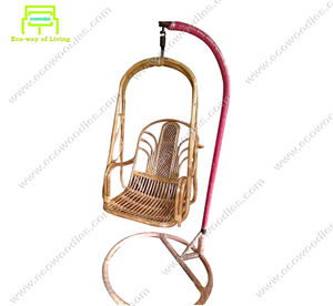 New High Quality Ecofriendly bamboo patio egg swing chair with stand for adults babies restaurant garden balcony terrace outdoor