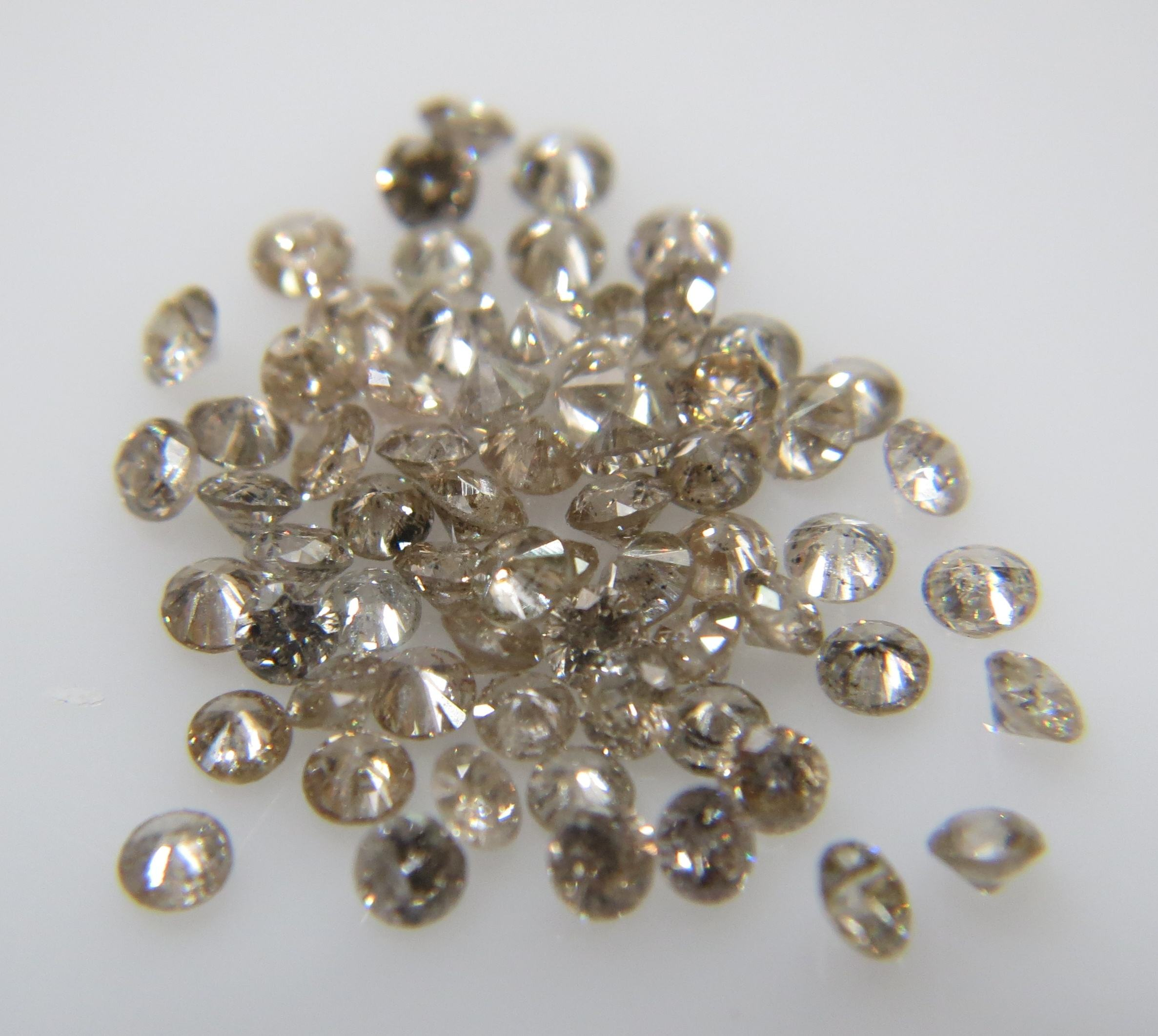 1.3-1.5mm SI-I Clarity K-L Color Natural Loose Brilliant Cut Diamonds Calibrated Fancy Brown