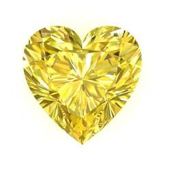 Fancy Canary Yellow Heart Charles