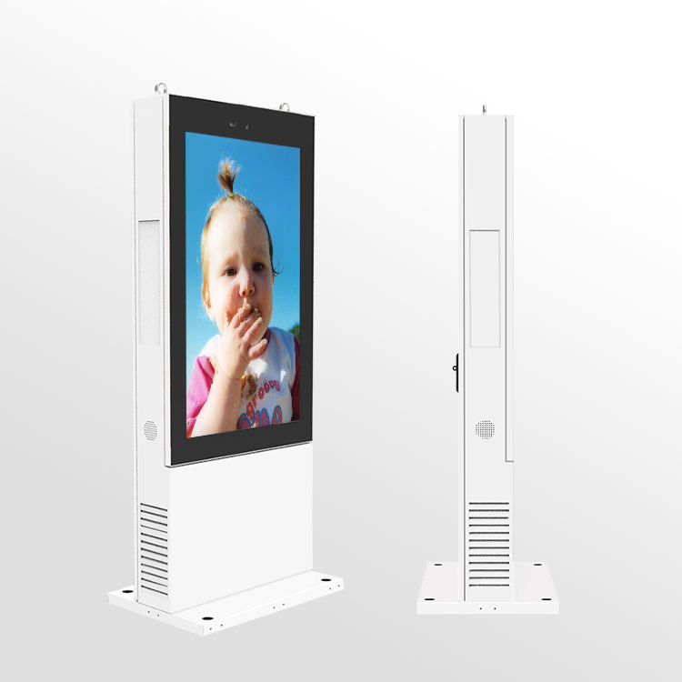 waterproof 43 outdoor 2500nit lcd kiosk full color advertising digital touch totem signage wifi display screen price for sale