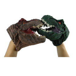 Plastic DINOSAUR HAND PUPPET come in pair