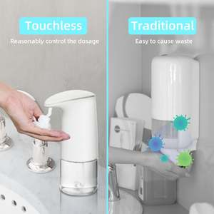 Battery operated sensor foaming hands free touchless automatic soap dispenser