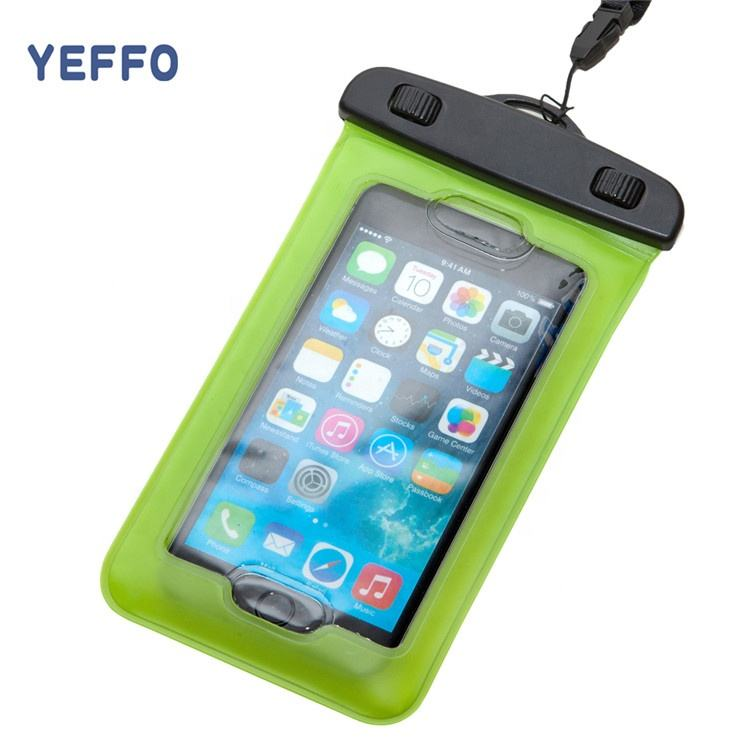 YEFFO Phone Mobile Waterproof Pouch Universal Case Cover Bag For iPhone Cell Phone Touchscreen
