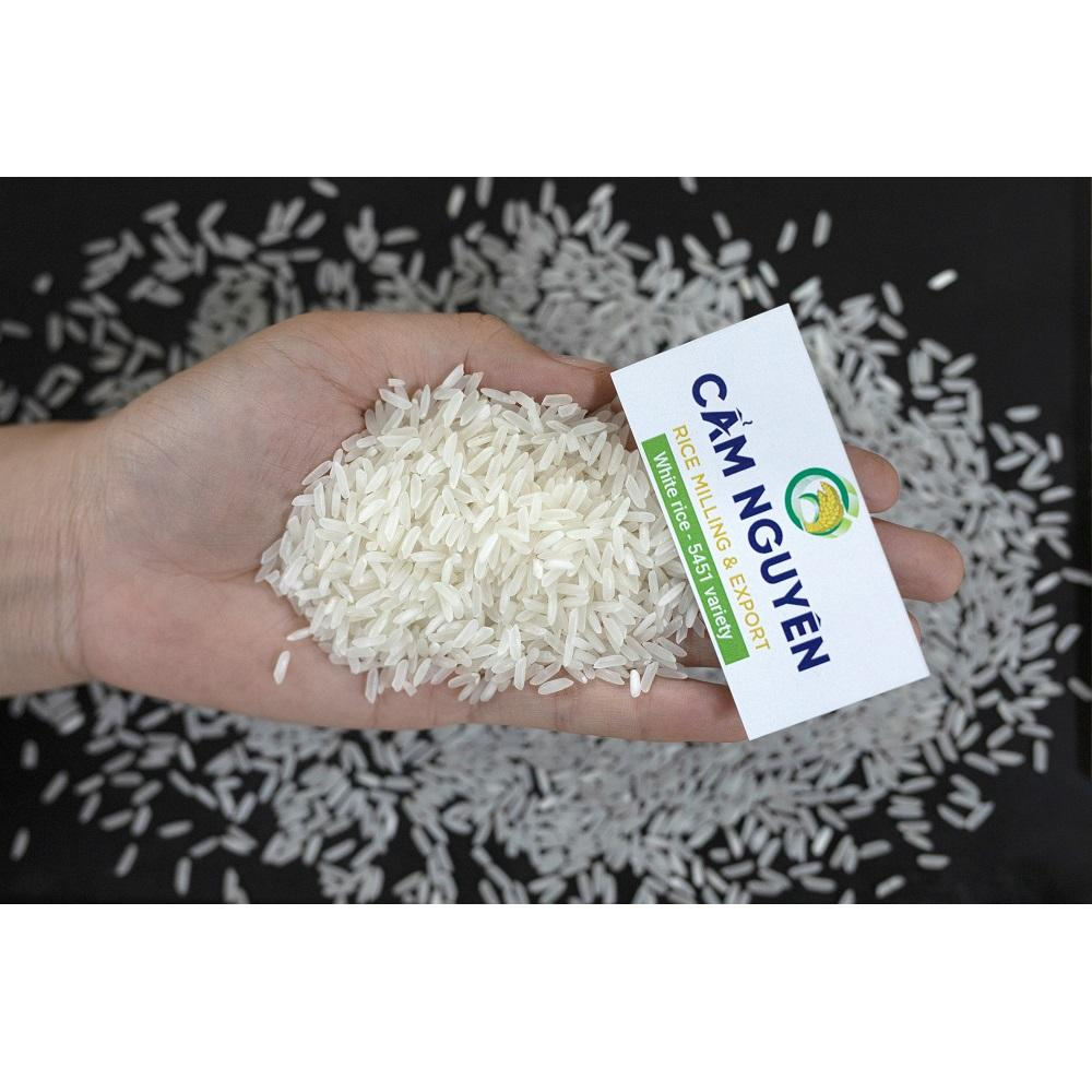 Cam Rice Vietnam export wholesale rice price 2019 new crop 5451 variety soft texture sortexed 5% broken rice long grain white