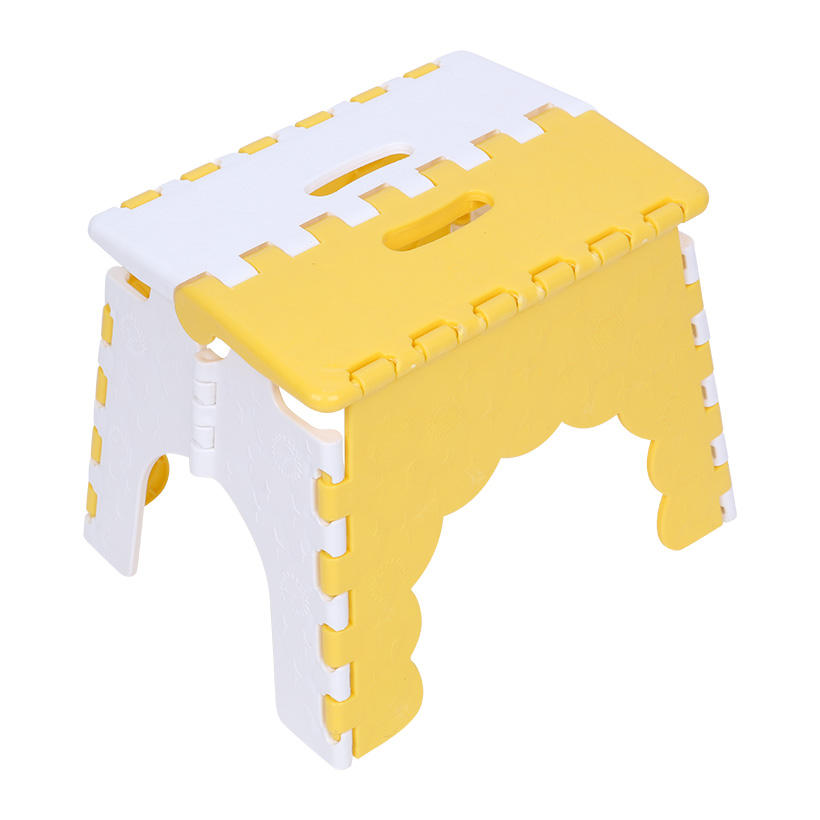 Plastic Kitchen Bathroom Step Stool Non Slip Folding Collapsible Stools for Adults Plastic Stepping Stool - Customized color