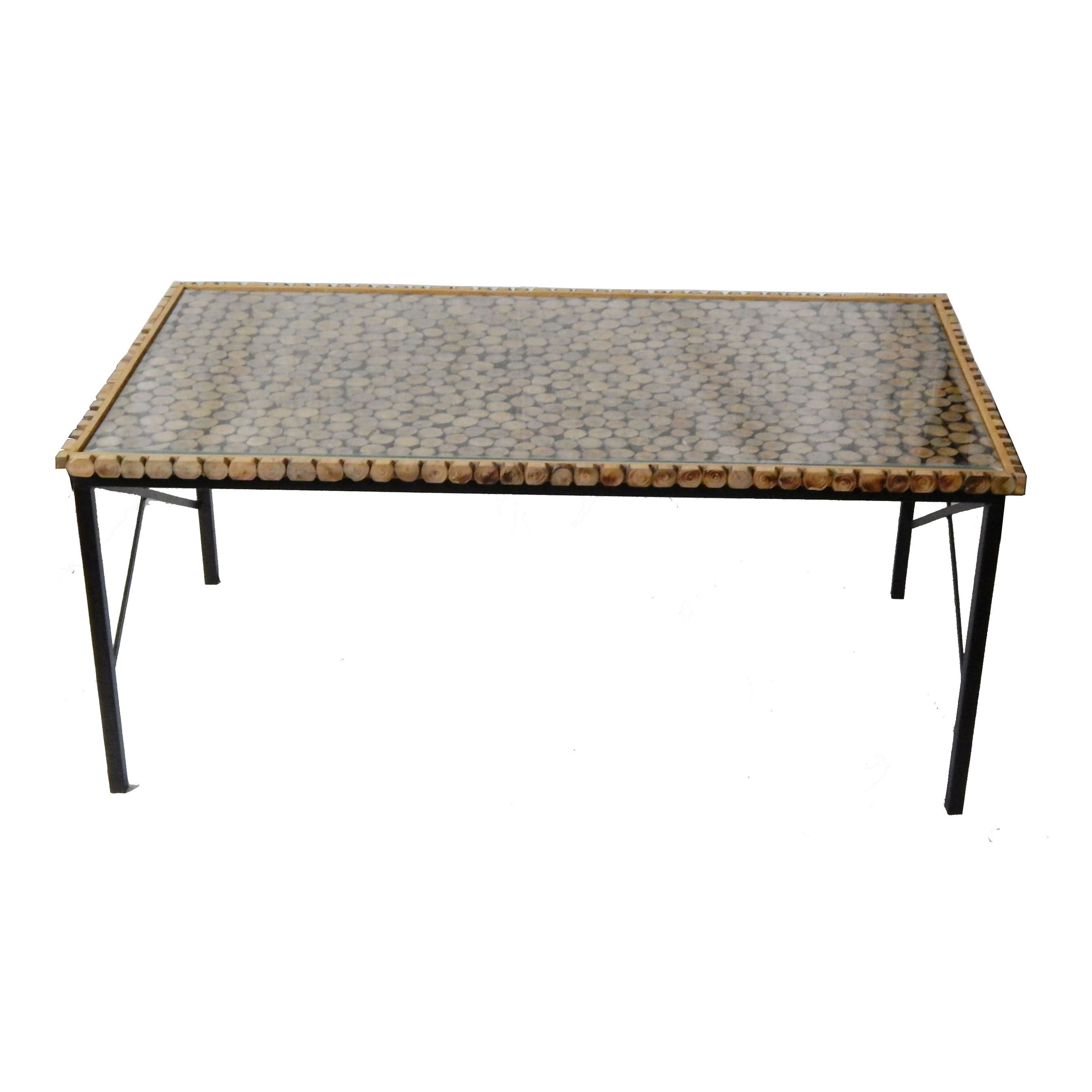 Center Table-Hot selling luxury Table With Wooden And Glass Top center table