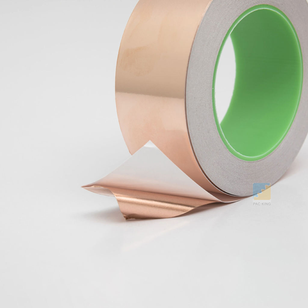 Copper Foil Tape With Double-sided Conductive-1.77 inch * 27.3Yards (45mm * 25m) for EMI and RF Shielding, Paper Circuits