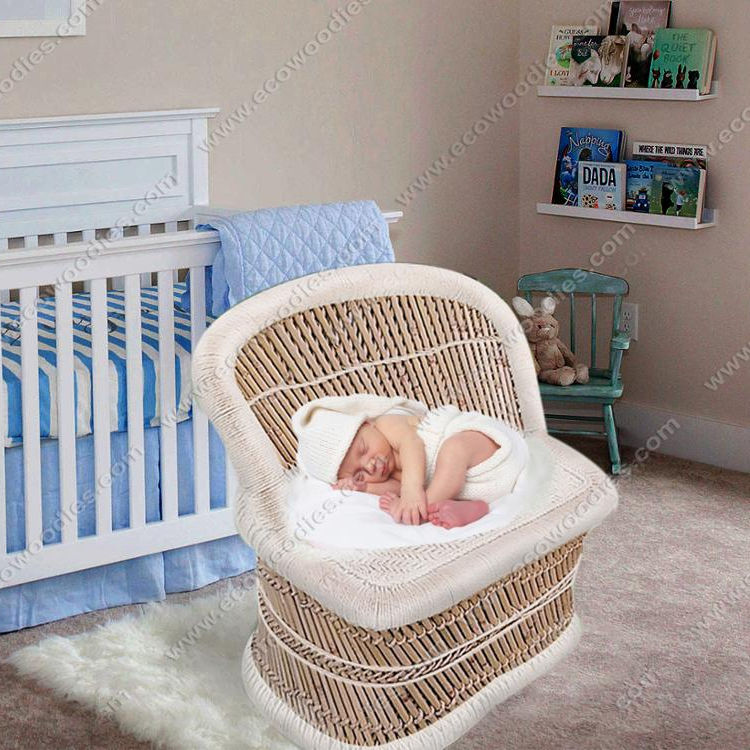 Newborn Kids Bedroom Furniture Rattan Sofa Chair Baby Photography Shoot Newborn Photography Props Lounger Bed Natural Fiber
