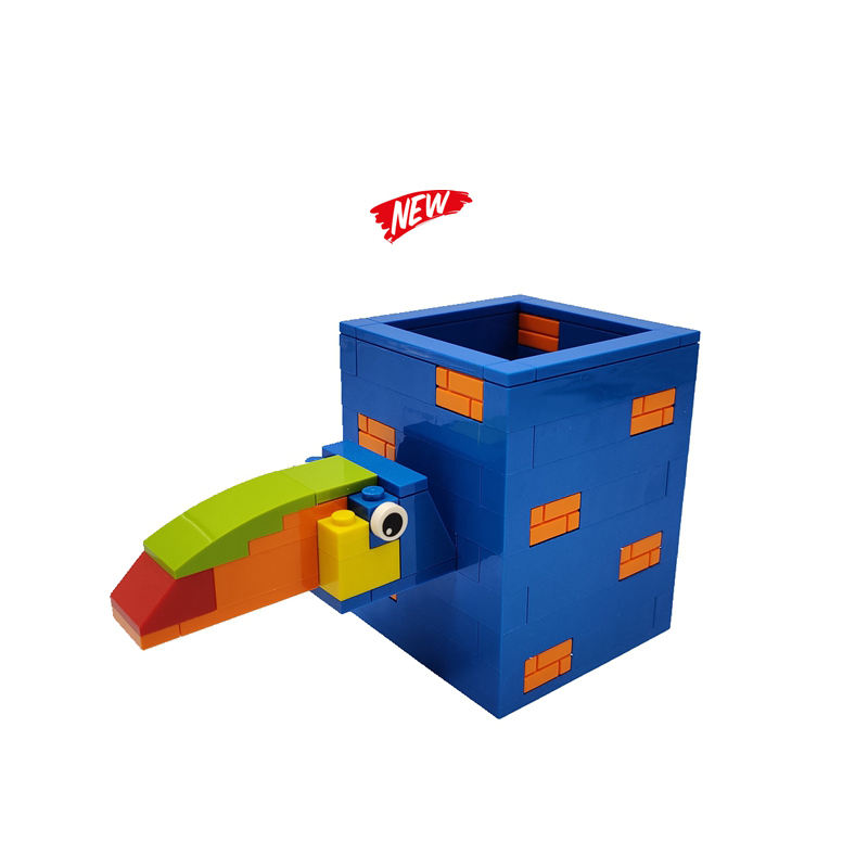 Animal Toucan Pen Holder 81 PCS Bricks Educational ABS Construction Building Toy