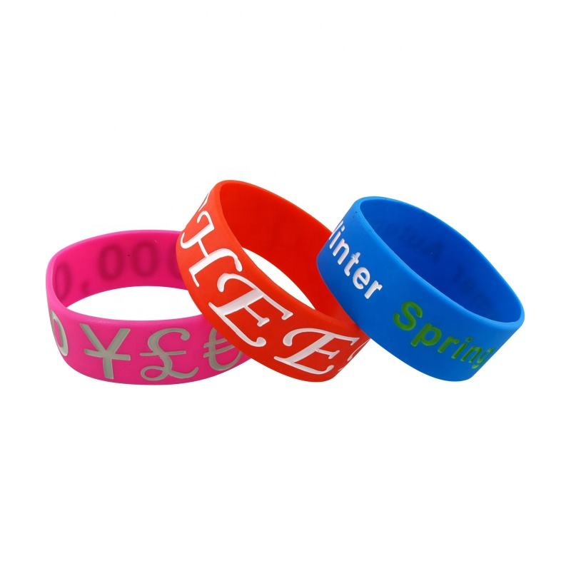 High quality Customized Free Custom Silicone Wristband