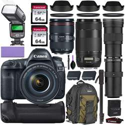 Wholesales For C anon E-O-S 5D Mark IV DSLR Camera & 24-105mm f/4L II USM Lens+ 64GB Pro Video Kit