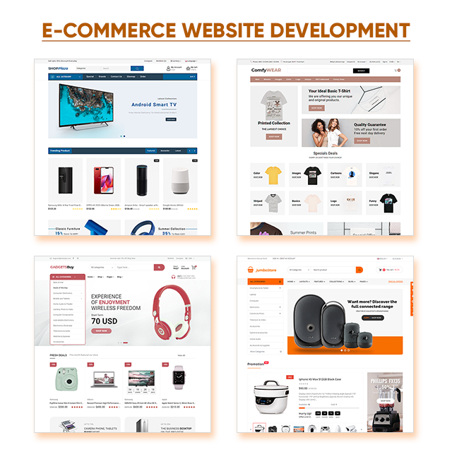 Custom Web Design Web Development Shopping Website ecommerce Online Store Website Design Website Designers B2B Business Web