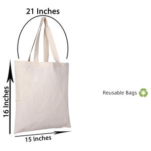 High quality cheap hotsale recyclable 100 % cotton custom logo printing shopping canvas tote bags with handle