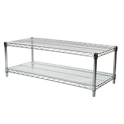 "24""d x 54""w Chrome Wire Shelving with 2 Shelves"