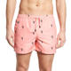 Men Split Hem Swimwear 100% Polyester Swim Shorts Slim Fit Swim Trunks