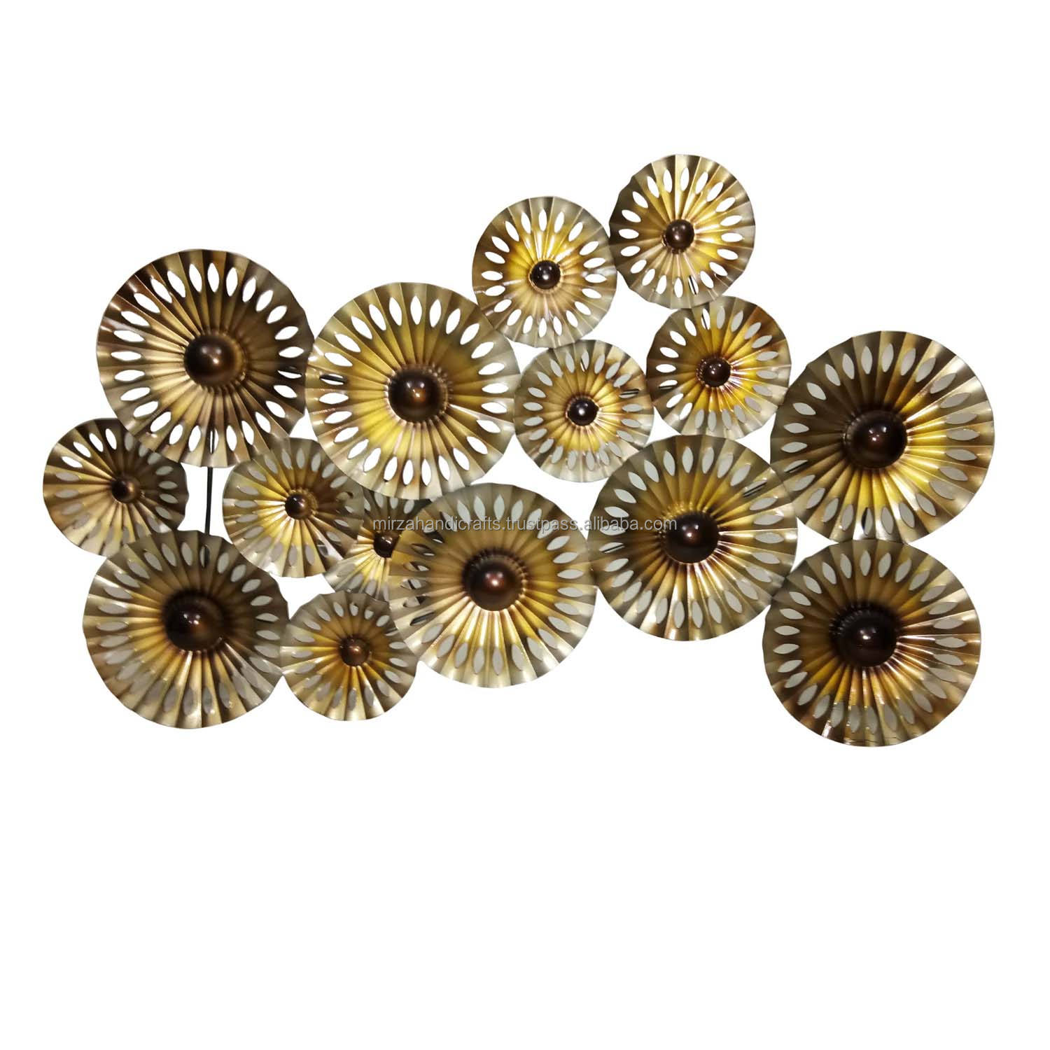 METALLIC CIRCLE S DECORATIVE WALL ART