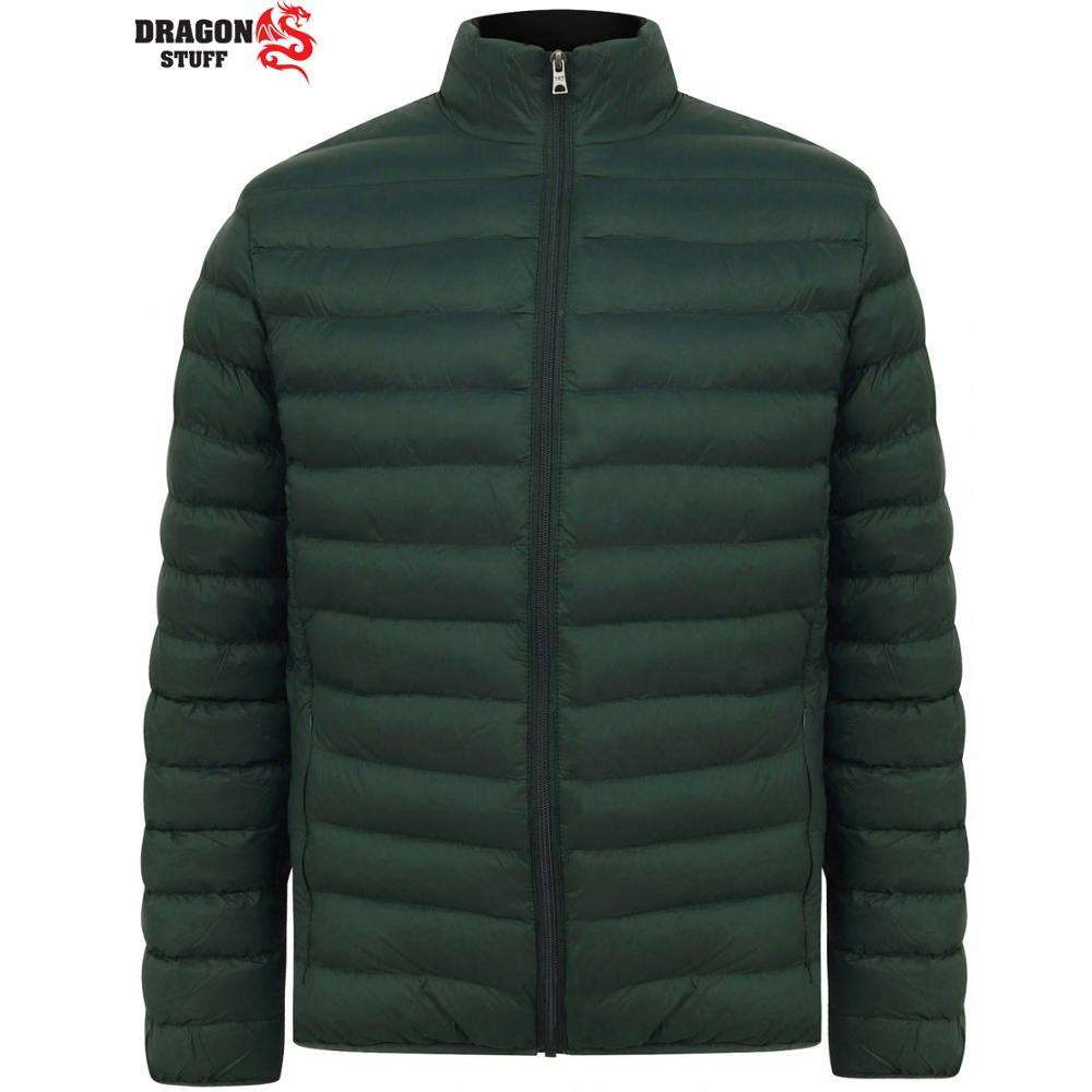 Men's Warm Winter Parka Quilted Padded Hooded puffy Jacket / Puffer Coat stand collar and zipper closure type padded winter vest