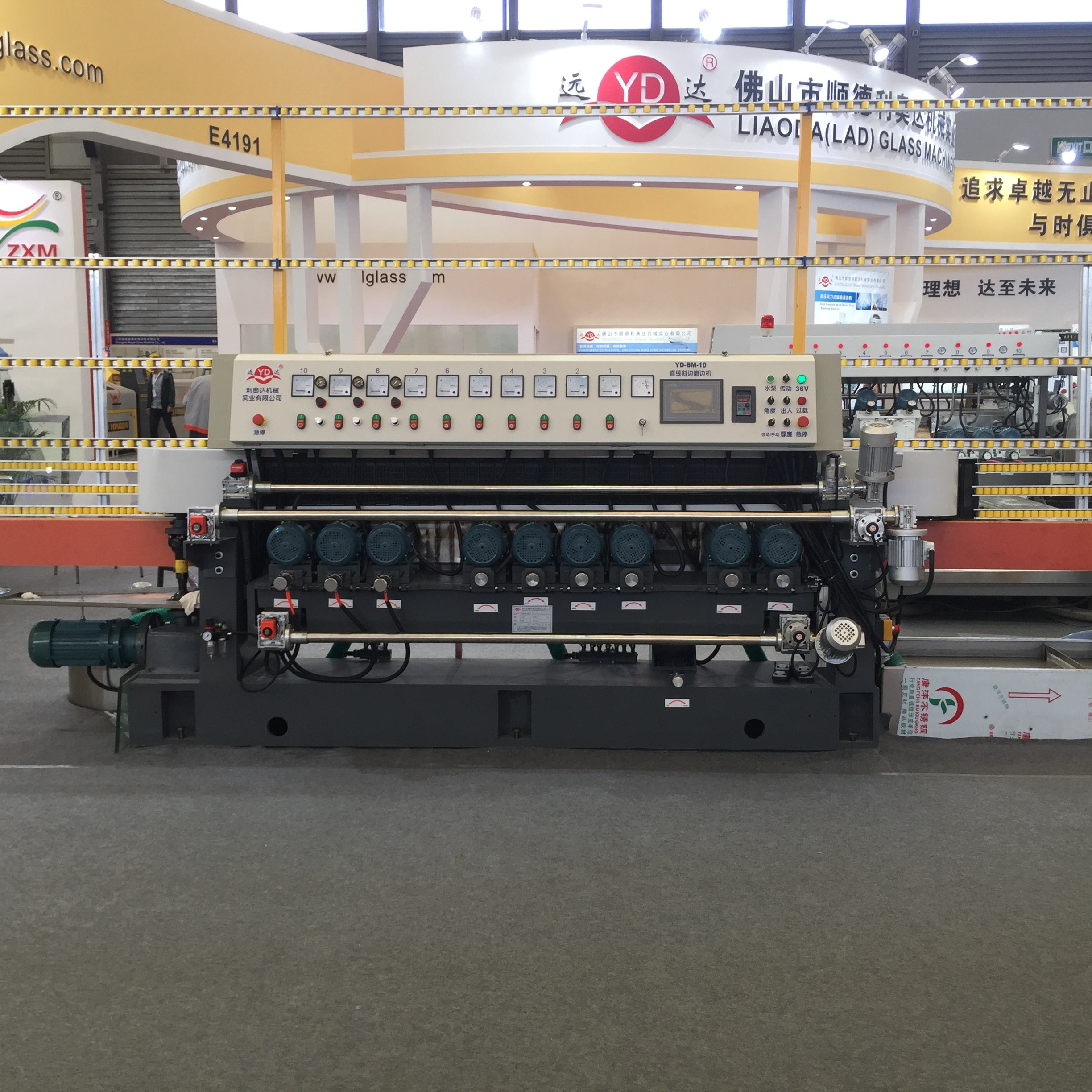 10 wheels automatic PLC control glass beveling machine price