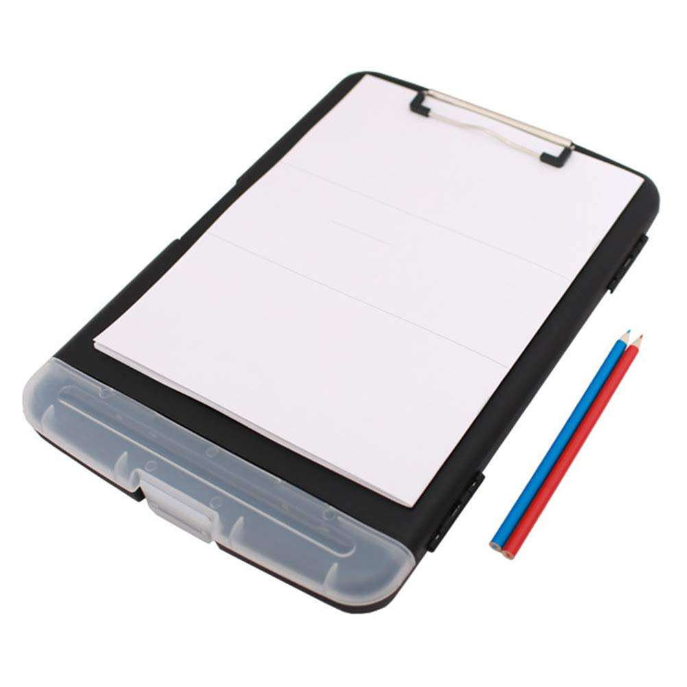 Hot Selling Clipboard Plastic Letter  Bottom Opening Storage  Low Profile Clip Plastic Storage Clipboard