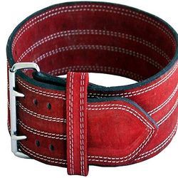 Amazon hot seller Weight lifting Leather belt 10mm, 13mm,best quality leather steel buckle