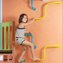 Deco Twist Climbing hold wall mount to create indoor safety playground for kid