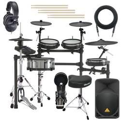 Brand New Roland TD27KV V-Drums Electronic Drum Set COMPLETE DRUM BUNDLE