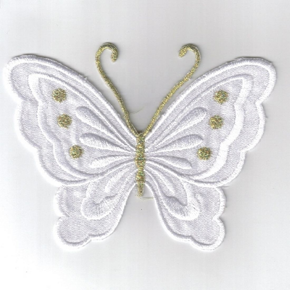 Cheap Butterfly Embroidered Patch Iron On Patches Clothes Insects Sticker Butterflies DIY Sewing Sew On Crests