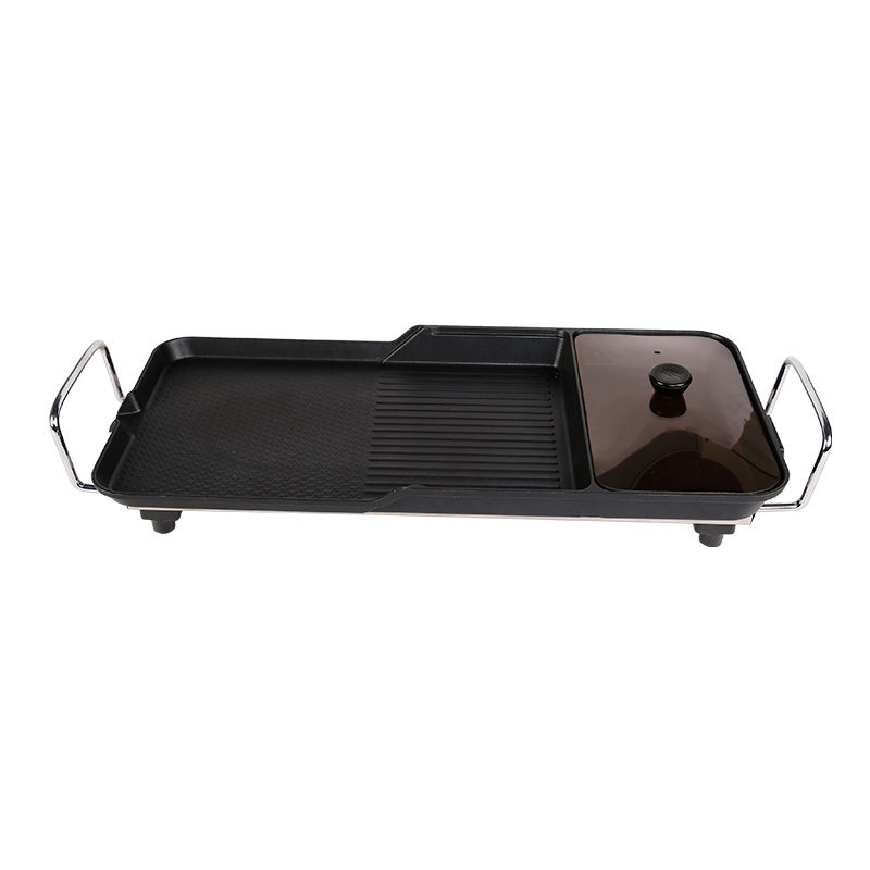 function 58*28 cm electric die cast grill plate for home use