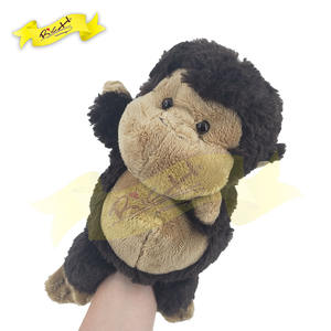 Factory Direct Low MOQ Safe for kids Baby's education toy Cute Animal Monkey Handpuppet Toy