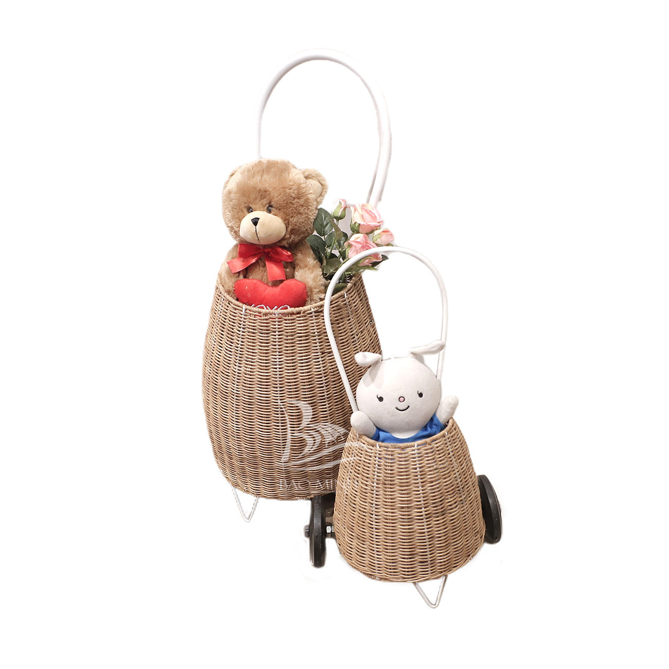 Natural rattan luggy basket kids toys dolls toy from Vietnam