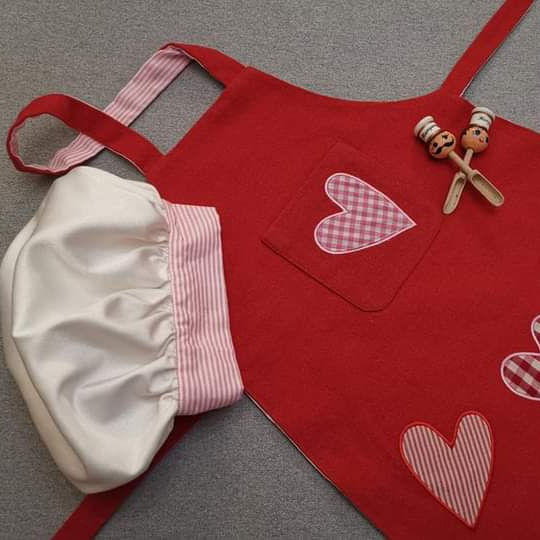 Customized kids Apron And Chef Hat Set