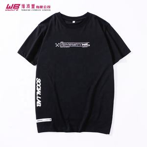 Mens clothing all 100% Ring Spun Cotton reflective printing heat transfer logo american sizes t shirts with private label