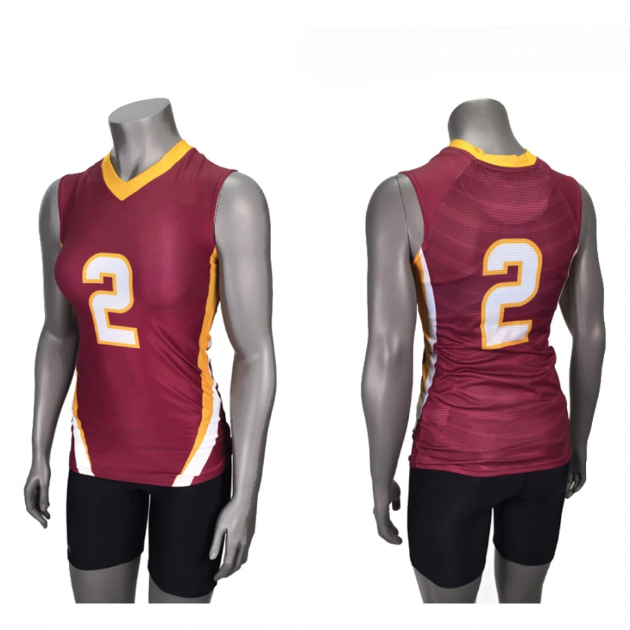 Women Latest custom design netball dresses volleyball uniforms