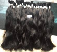 Double drawn natural virgin black straight bulk Vietnamese hair virgin remy human hair extension high quality wholesale price