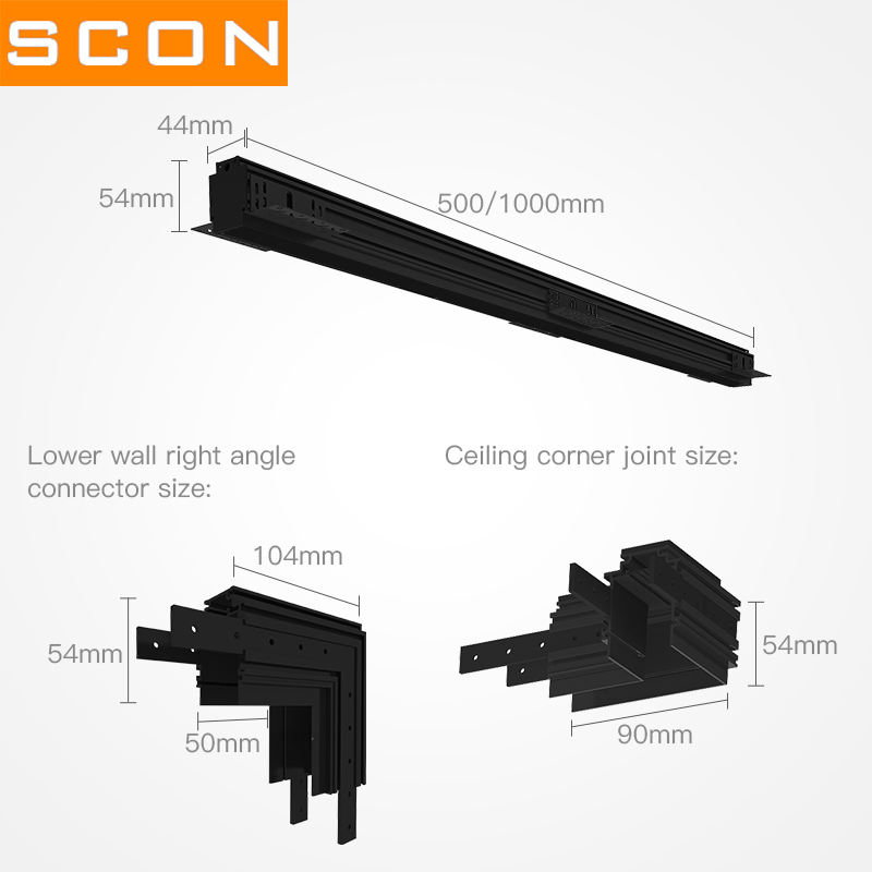LED Magnet Track Light System 1500mm Track Magnetic LED Light Dali Lighting Magnetic Track