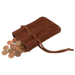 Wholesale Medieval Style Leather Coins Pouch