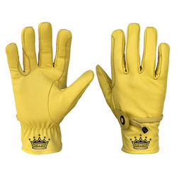 Top Quality Riding Gloves Original Leather Yellow color