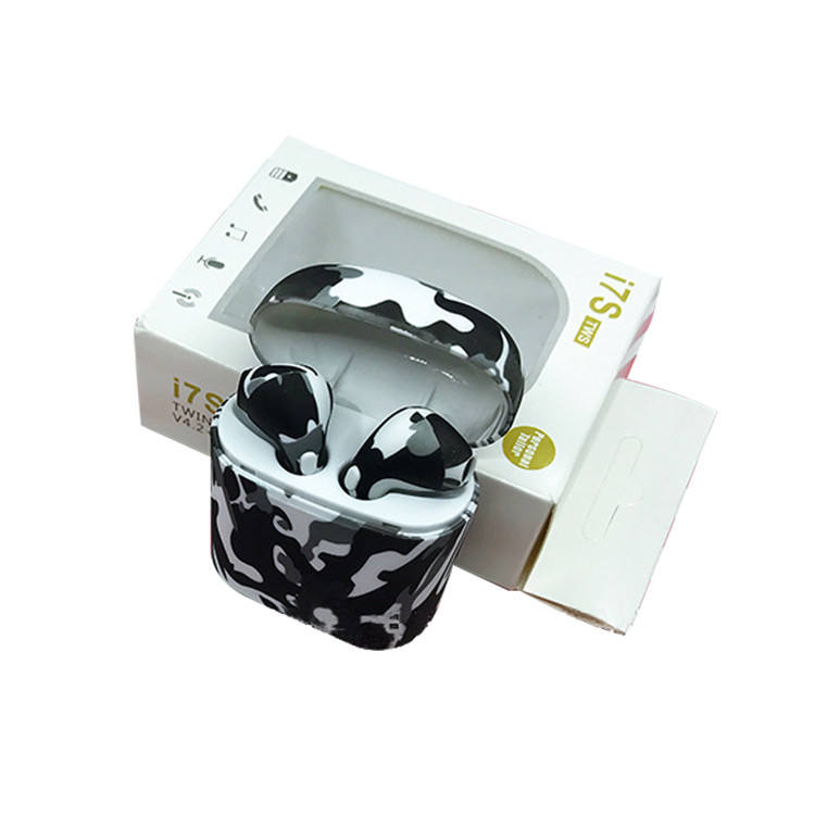China Factory OEM Camouflage Colorful Design i7s TWS Earphone Wireless bluetooth mini Earbuds for amazon ebay