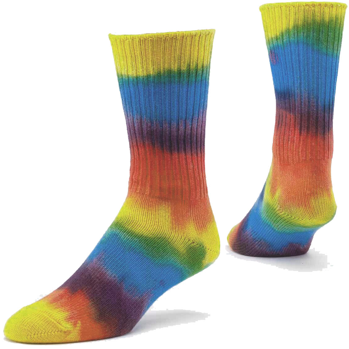 Custom Tie Dye Casual Crew Socks For Women from Manufacturer- Made in Turkey