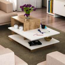 Venus High Quality Decorative Hot Sale Wood Luxury Coffee Table Design White Walnut Living Room Coffee Table
