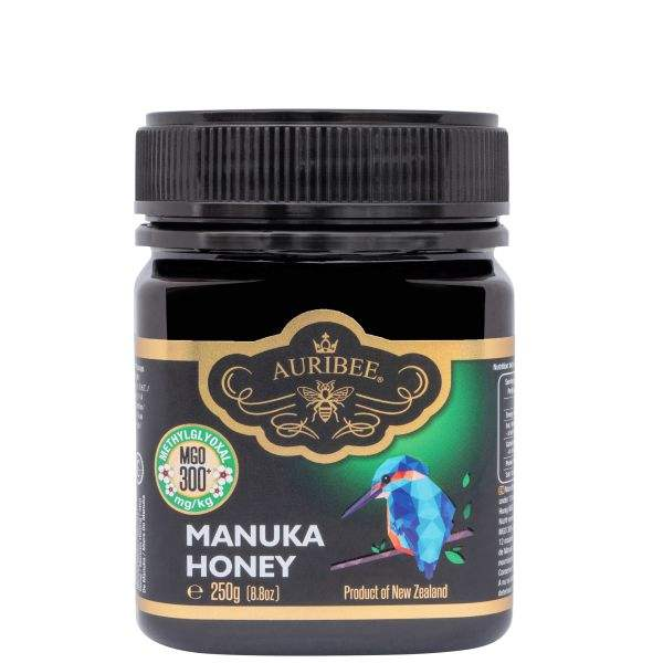 Natural Manuka Honey MGO300+ 250g Product of New Zealand, Monofloral, Raw Unpasteurized, Certified MGO content