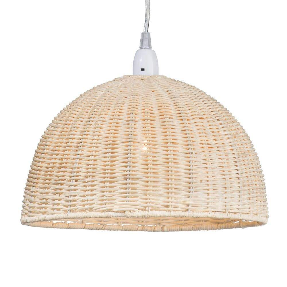 2019 trendy round rattan fabric lampshade wholesale in vietnam trade