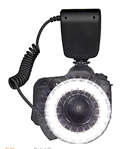 48 SMLED Macro Ring Flash Light With Lens Adapter For DSLR Camera Speedlite Flash Modeling Light