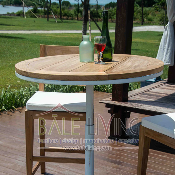 Best Quality Teak Wood Cattalina Round Table Bar Furniture For Restaurant And Bars