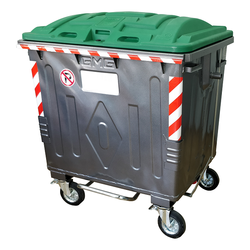 Plastic Reinforced lid for metal waste containers 1100 litre made according to EN840/2