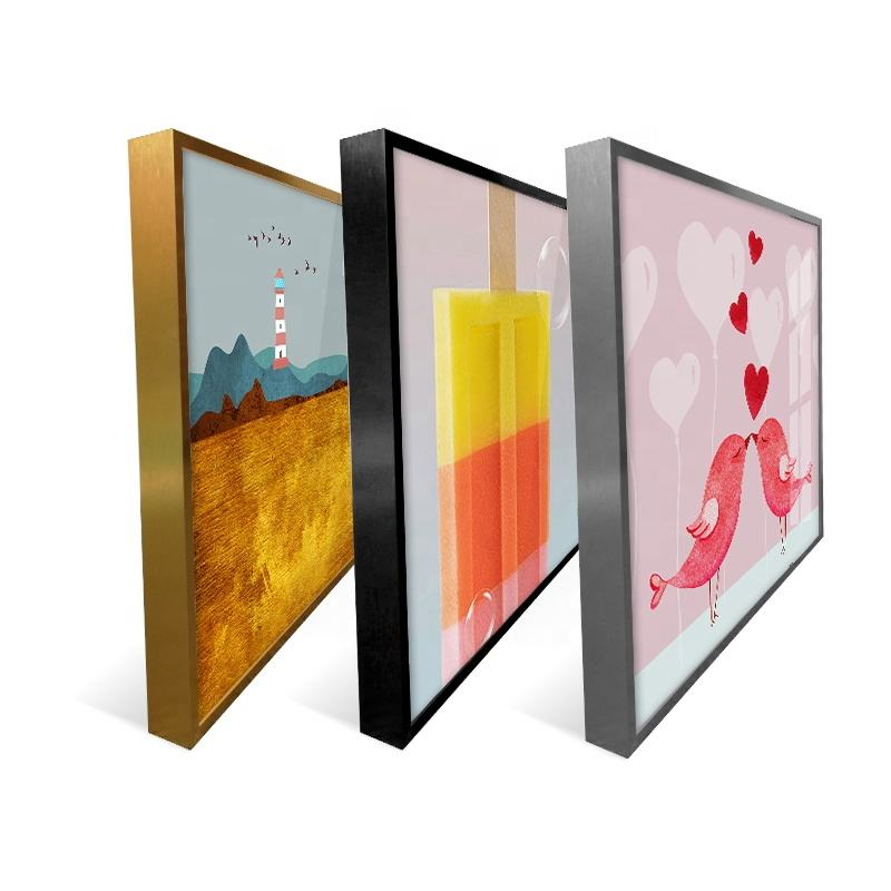 Wholesale Blank Stretched Canvas Frame Digital Print Canvas high quality metal aluminium alloy frame for oil painting