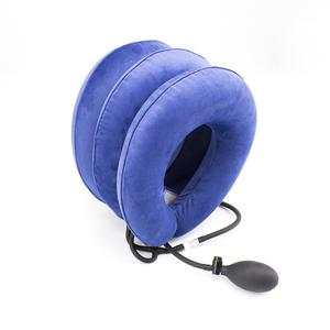 Inflatable adjustable neck pain relief traction device cervical vertebra tractor