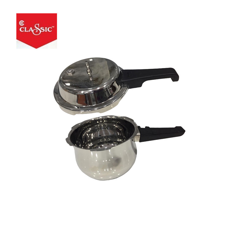 Polished Stainless Steel Pressure Cooker (1.5 LTR)