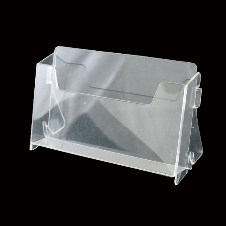 Clear PET Table Top Business Card Display Stand